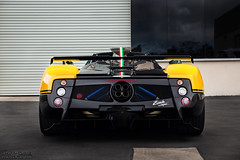 Pagani Zonda Cinque Roadster Rear End (David Coyne Photography) Tags: carbon cars car speed fast yellow 4 italy v12 roadster cinque zonda pagani