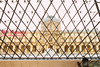 Paris 2017: In The Louvre Pyramid In Winter (Wing Yau Au Yeong) Tags: entrance france louvre museum paris pyramid travel fr architecture geometry windows touristattraction entrace