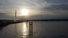 Genève jet d eau (jeremydeluc) Tags: genève geneva suisse switzerland lacleman jetdeau beaurivage sunset coucherdesoleil lac lake nikon d5500