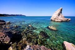Scoglio della Vela (Daniele Torreggiani) Tags: portonovo riviera conero ancona marche beach rocks sea