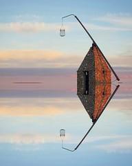 R e f l e c t i o n s (maya the viking_girl) Tags: reflection reflections sky sea water lighthouse tiltinglantern nature seascape landscape clouds norway minimalism minimal pastel tjøme blue