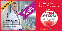 proud to announce ACRM Special Speaker 2017 Conference: Ann McKee, CTE Center, Boston University/VA Medical Center (ACRM-Rehabilitation) Tags: pirr2017 rehabilitation research science scientificresearch scientificpaperposters sci braininjury speaker symposia plenary