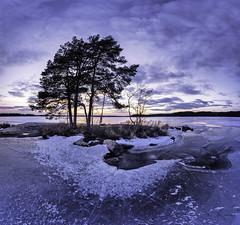 Surrounded by ice (Kari Siren) Tags: isle ice lake karijärvi jaala finland