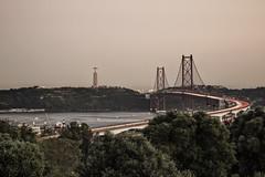 Ponte 25 de Abril (carlos.aantunes) Tags: ponte 25 de abril bridge lisbon portugal long exposure sunset sunrise canon 5d cristo rei trees monsanto rio tejo river travel travelphotographer