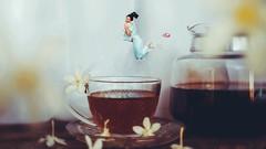 267/365 Coffee Time (Katrina Y) Tags: selfportrait coffee conceptual concept creative cinematic jump surreal surrealphotography manipulation artsy art artistic mood