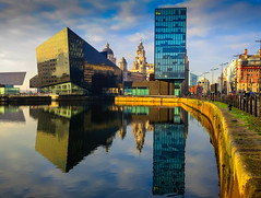 BRYAN_20170123_IMG_1027 (stephenbryan825) Tags: 3graces canningdock liverpool mannisland royalliverbuilding buildings reflection selects water