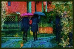 Due donne in un giorno di pioggia - Aprile-2017 (agostinodascoli) Tags: art digitalart creative agostinodascoli cianciana sicilia nikon nikkor photoshop photopainting digitalpainting impressionismo colore fullcolor