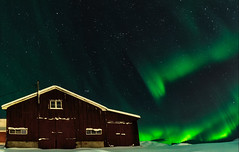 Ascension (Pete Rowbottom, Wigan, UK) Tags: norway norge troms tromso northernnorway arctic arcticcircle aurora northernlights auroraborealis night nightphotography nightsky glow glowing peterowbottom barn farm snow snowing freezing ice landscape norwaylandscape nightscaope nikond750 wideangle fastlens greenaurora ascension ascending cold stars astro astrophotography photography remote amazing drama dramaticsky colourful colourfulsky composition norweigan nopeople slowshutterspeed slowshutter phenomenon woodenbarn explored inexplore norwaywinter