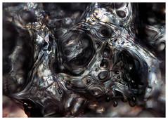 CreepyBlob (peterobrien186) Tags: quasiliquid crossedpolarized ice water snow crystal birefringence blob macro winter nature abstract