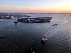 Staten Island ferry at sunset (Bex.Walton) Tags: newyork nyc usa travel winter snow libertyisland sunset