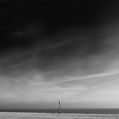 . . . solitaire five (orangecapri) Tags: orangecapri sq mono bw sea seaside beach water aqua sky minimalism minimal
