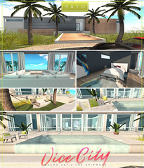 SAYO @ THE EPIPHANY / VICE CITY GACHA (Kayami Osakki (SAYO)) Tags: sayo secondlife epiphany gacha decor home house houses miami biscayne vice city kaysha piers kayami osakki sl