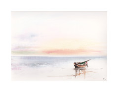 Rivage (Yvan LEMEUR) Tags: barque barquesurlaplage aquarelle watercolour acuarela peinture marine mer sea