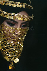 She's Fallen (DesertWindsPhotography) Tags: jewelry makeup art blue gold red india arab arabic uae qatar saudi arabia black colorful morocco fabric hijab green women portrait indoor bright background السعودية الكويت الإمارات البرقع مكياج مصر bedouin
