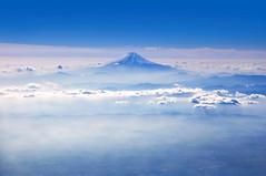 Mount Fuji (zlaia pirania) Tags: japan mountfuji blue aerialview