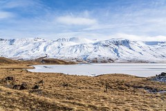 Vatnsdalur Iceland (Einar Schioth) Tags: vatnsdalur winter water sky snow sunshine shore day canon clouds cloud coast sigma nationalgeographic ngc nature landscape lake mountains mountain photo picture outdoor iceland ísland ice einarschioth
