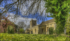 Cranford Church 2 (Darwinsgift) Tags: cranford st andrews john baptiste church northamptonshire spring graveyard pc pce e nikkor 19mm f4 mf hdr photomatix nikon d810 flowers blossom