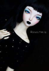 Commissions for Rachel (Rakeru Space) Tags: sensei´s make up rakeru sensei bjd doll minifee sia dark black lips matte
