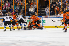 "Missouri Mavericks vs. Wichita Thunder, March 25, 2017, Silverstein Eye Centers Arena, Independence, Missouri.  Photo: © John Howe / Howe Creative Photography, all rights reserved 2017. • <a style=""font-size:0.8em;"" href=""http://www.flickr.com/photos/134016632@N02/33571550841/"" target=""_blank"">View on Flickr</a>"