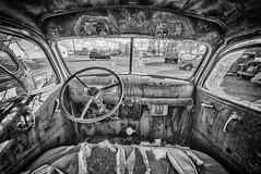Old and Run Down (NikonDigifan) Tags: spraguewa trucks bw dilapidated old niksoftware silverefexpro mikegassphotography hdr tamron tamronlenses tamron1530