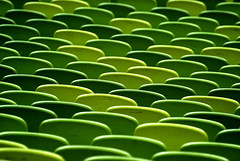 Green (only lines) Tags: green seats stadium munich olympicstadium germany