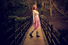 Woodland Walk (sophie_merlo) Tags: woods forest wood red redhead ginger beauty landscape model location bristol