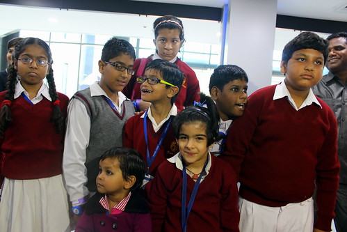 KidZania Tour for Kids with disabilities:Happy kids eagerly waiting for the tour to start at Kidzania Delhi NCR!