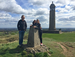15 of 52 trig points (Ron Layters) Tags: 2017 ronlayters selfportrait 52trigpoints crichmount trigpoint windy ellie jayne crichmemorial sherwoodforesterswarmemorial clouds tower memorial vista pillar tp2588 fbs1719 landscape sun tramwaymuseum nationaltramwaymuseum crichquarry crichstand peakdistrict peakdistrictnationalpark crick derbyshire england unitedkingdom 52weeks 52 phonecamera iphone apple appleiphone6 selftimer tripod 10secondtimer weekfifteen week15 15