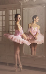 Give a girl the right shoes and she can conquer the world. (23/52) (sylvievienne) Tags: model dance dancer ballet ballerina mirror portrait photography photoshoot makeup tutu pointes