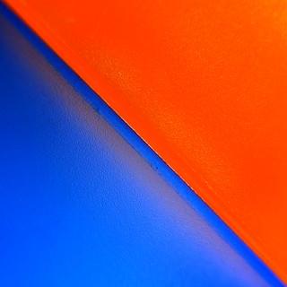 just blue and orange