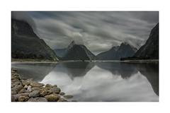 MILFORD SOUND 2 (daz672) Tags: nikond600 2485mm newzealand milford milfordsound firecrestnd16stops water sound landscape longexposure clouds seascapes sky