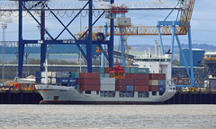 Gerda-31-March-2017 (Steve Ellwood Whitley Bay) Tags: ship type container former names gerdia nedlloyd russia imo 9113745 mmsi 211226860 callsign dpgk flag germany port of registry hamburg length overall 10112 breadth registered 182 draught 6547 gross tonnage 3999 net 2176 deadweight 5212 year built 1995 builder jj sietas kg schiffswerft gmbh co country place build