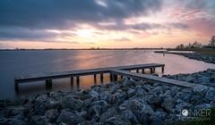 Sunset colours (melvinjonker) Tags: sky clouds nature pier lake landscape sony leefilter longexposure sunset sun