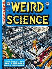 "Front cover of Volume 4. ""The Complete Weird Science"" published by Russ Cochran, (1978). Four hardcover volumes.  1st ed. (lhboudreau) Tags: comiccover comicbookcover comicart coverart russcochran hardcover hardcovers bookcover bookcovers bookart 1978 completeweirdscience thecompleteweirdscience comicbook comicbooks comic comics colorcomics vintagecomic vintagecomics vintagecomicbook vintagecomicbooks colorcomic weirdscience eccomics 1950 aliens sciencefiction sciencefictionstories volume4 entertainingcomics ec comicbookmagazine artwork illustration spaceship women suspendedanimation frontcover wood wallacewood wallywood"