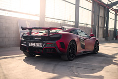 MSO HS (TheCarhotel) Tags: mclaren mso hs 1 25 finished satin volcano red dubai uae warehouse flare sun supercare