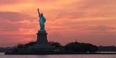 statue-liberty-800 (kris.sridharan) Tags: newyork unitedstates city sunset island sun freedom clouds statue usa cloud upper ferry new bay dusk manhattan liberty york jersey staten bartholdi nyc stateisland resourcetravel500px
