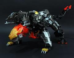 Jinroh : Blast form (chubbybots) Tags: lego bionicle wolf mecha