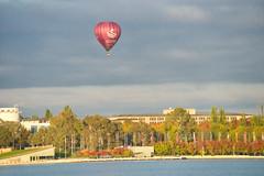 Balloon on Lake Burley Griffin (garydlum) Tags: lakeburleygriffin canberra parkes australiancapitalterritory australia au