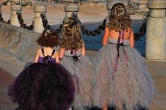 Fairies in training (beyondhue) Tags: girls light lake 3 ontario hair three back waterfront dress purple deep curls fairy curly fantasy fairies fairystory beyondhue