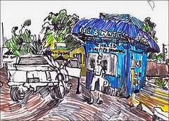 Ice and Water Station (Kerry Niemann) Tags: waterstation markerdrawing apachejunciton