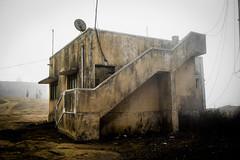 India 2014 (inacio.marcos) Tags: morning india yellow fog architecture early hills nandi satelite ruines