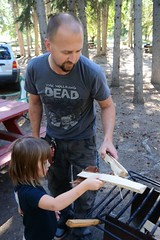 Rose Helping Her Daddy Prepare the Fire Pit (Vegan Butterfly) Tags: wood family camping camp people cute girl daddy fire kid dad child father daughter adorable pit help homeschool homeschooling helping