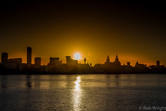 Liverpool sunrise across the River Mersey. More of my work at  www.wrightimage.eu (.Wright Image) Tags: