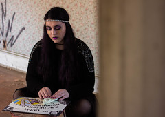 The Fortune Teller (Kristen Victoria Harner) Tags: portrait house cards model friend witch board maryland indoor fortune spirits abandon tarot frame concept conceptual telling teller ouija