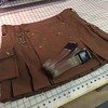 Brown Snap Classic Alt.Kilt with two bronze belts. http://www.altkilt.com/snapclassic