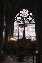 Notre-Dame Cathedral (oxfordblues84) Tags: paris france building architecture europe catholic cathedral interior chapel stainedglass catholicchurch gothicarchitecture frenchgothic ledelacit catholiccathedral fourtharrondissement cathedralinterior roadscholar roadscholartour