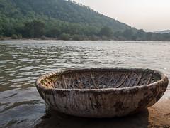 Coracle, Kaveri River (Mike Prince) Tags: india water transport karnataka coracle riversandstreams galibore kaveririver boatsandships cauveryriver cauveryvalley natureandenvironment kaverivalley