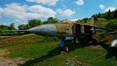 Mikoyan-Gurevich MiG-23MF in Savigny-les-Beaune (J.Com) Tags: france les museum force aircraft aviation air musee chateau mig beaune gurevich mikoyan savigny