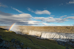 Dettifoss Rainbow (acreativename) Tags: sky mist water clouds landscape waterfall iceland rainbow canyon dettifoss scenory