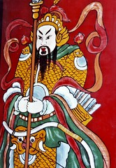 Tin Hau Temple, Joss House Bay - Painted Screen (zorro1945) Tags: china door hk art history painting temple hongkong asia god screen deity guardian chine taoism tinhau honkers saikung religiousart animism tinhautemple confucianism josshousebay